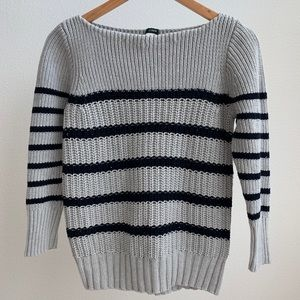 J. Crew Chunky Knit Stripped Sweater